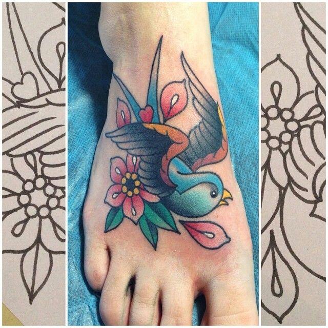 Dan Smith foot tattoo