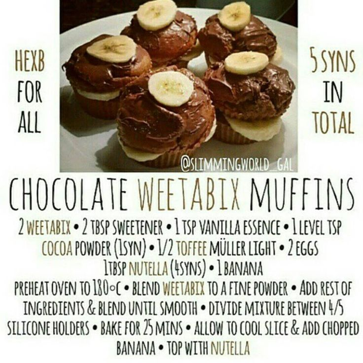 """""""It's that time again! Reposting my weetabix muffin recipe  To make the """"brownies"""" just bake them for an extra 5 minutes  I've tried to answer some of…"""""""