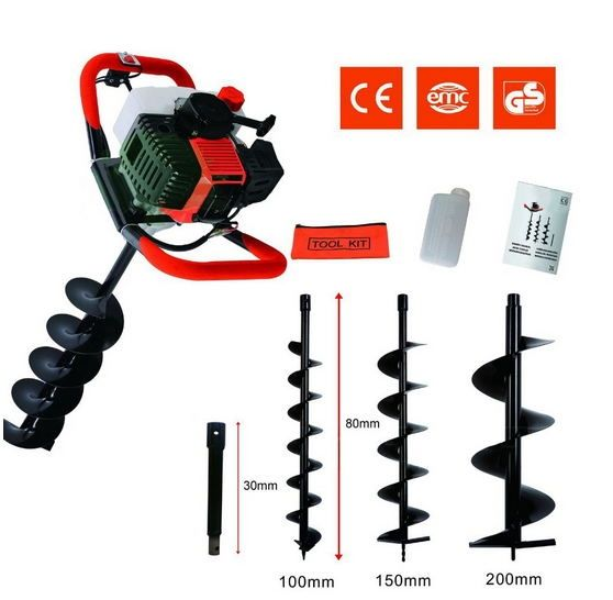 129.80$  Watch here - http://aid9t.worlditems.win/all/product.php?id=32604156341 - Professional digging hole Earth auger 52cc Earth Drill for Sale Good Machine Post Digger