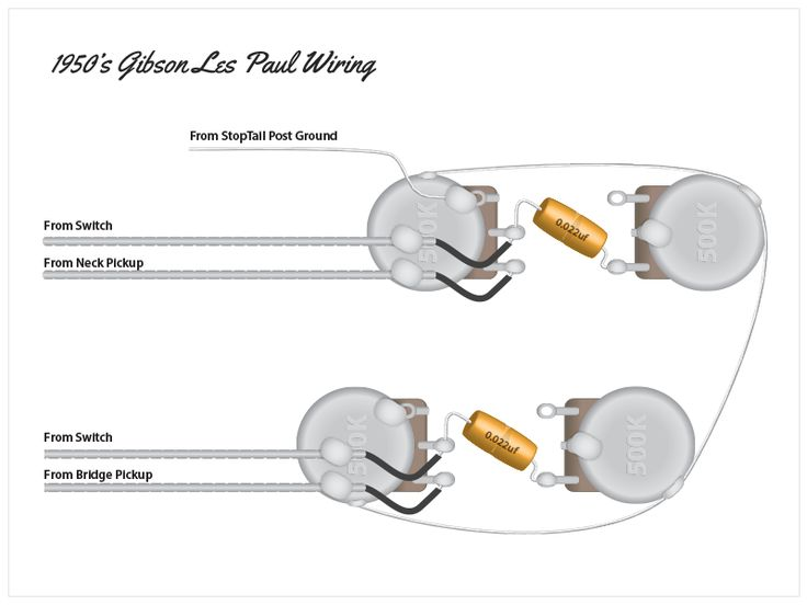 Gibson Les Paul Modern Wiring Diagram : Vintage les paul wiring diagram efcaviation