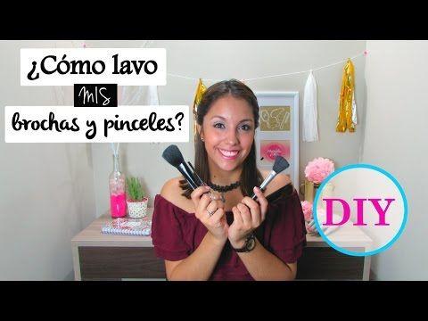DIY - ¿Cómo lavo mis brochas de maquillaje? - Marcela Lince - YouTube