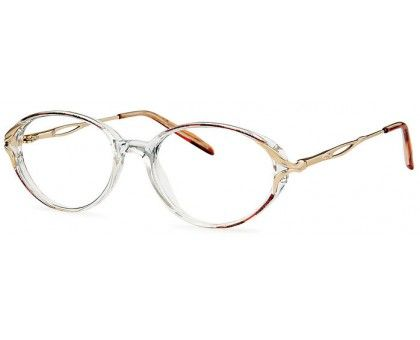 oval glasses. Kelly Frames in Brown