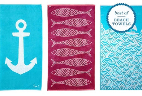 Endless summer towels from One Kings Lane