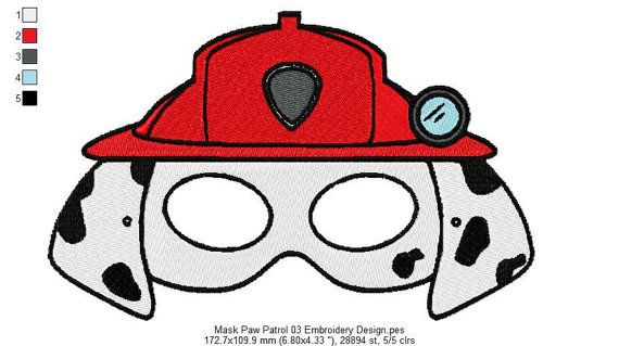 Paw Patrol Mask Embroidery Design