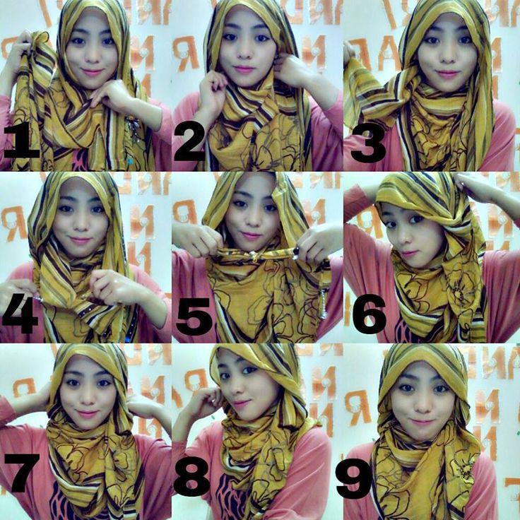pin back hijab tutorial