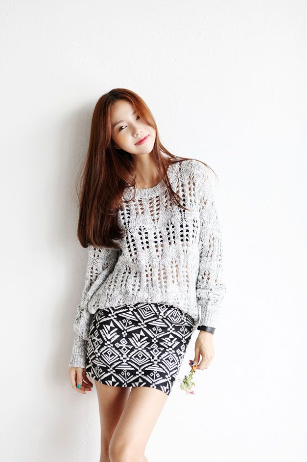 Punch Pattern Knit Top