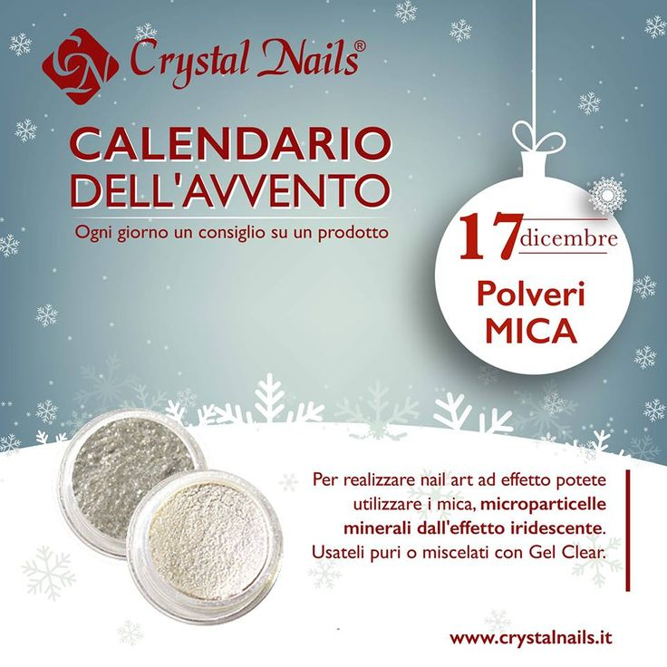 Calendario dell'avvento Crystal Nails - 17 dicembre #crystalnails #mica #nailart