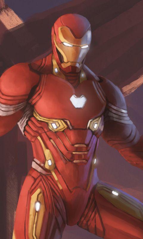 Iron man nanosuit avengers infinity war fan art for Sfondi iron man
