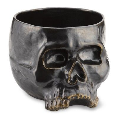 Halloween Skull Punch Bowl- 9 qts. This will be coming to our garage annual halloween party. Blood orange punch will fill it.
