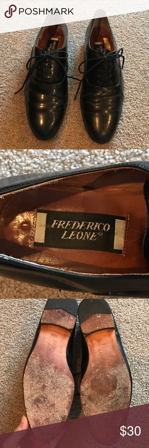 Tuxedo shoes men's size 7.5 by Frederico Leone Black shiny tuxedo shoes size 7 ½ medium. Frederico Leone Shoes