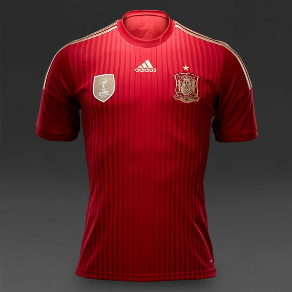adidas Spain 2014 Home Jersey