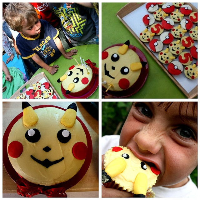 Pokemon cake and cupcakes