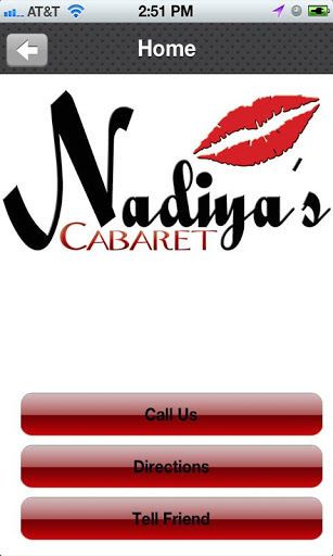 Nadiyas Cabaret is the sexiest place in Pinellas Park, FL with an Equally matching staff, Las Vegas style atmosphere, offering personalised V.I.P & bottle service. Open seven days a week from 12pm - 3am. <p>Download the Nadiya's Caberet app to receive exclusive deals, book VIP parties, keep up with events at the club, view entertainers, get gps directions and much more.