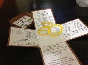 Wedding Invitation Pop Up Template Unique