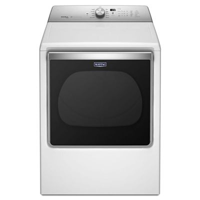 Maytag 8.8-cu ft Electric Dryer Steam Cycles (White) ENERGY STAR