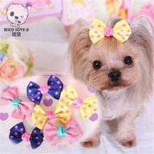 1 шт./лот точка ручной зоосалон аксессуары продукты собачка с бантом маленький цветок луки для собак подвески подарок(China (Mainland))