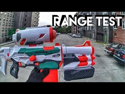 This is the official Nerf Gun Attachments Nerf Modulus Tri-Strike Range Test!