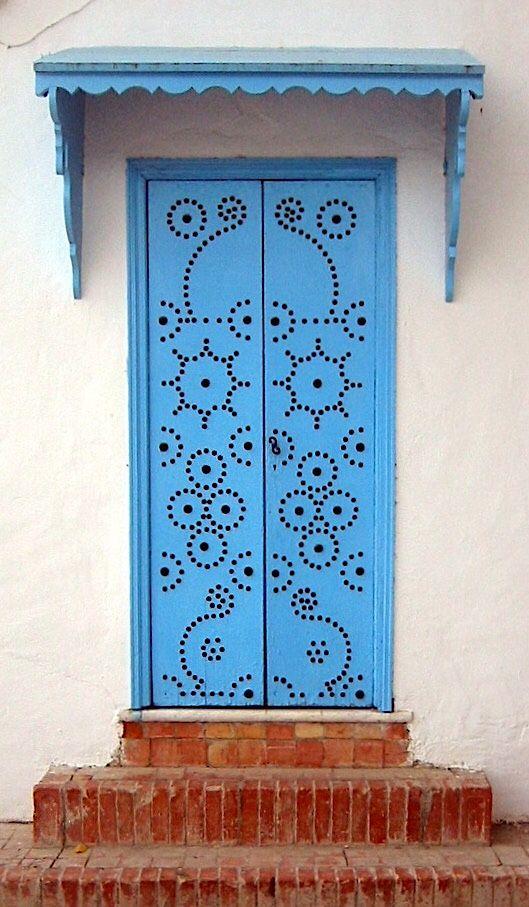 Door | ドア | Porte | Porta | Puerta | дверь | Sertã Sidi Bou Said, Tunisia