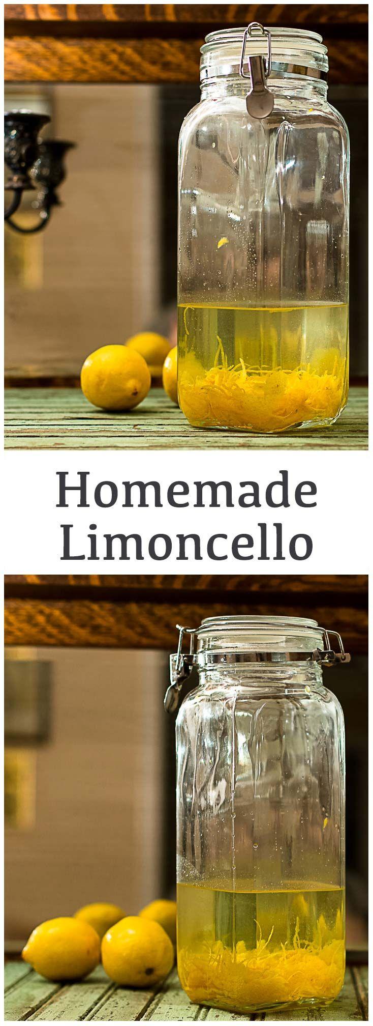 Homemade Limoncello!  #Vodka #infusions #limoncello