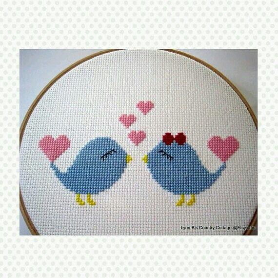 Kanaviçe # kuş # pano # nakış