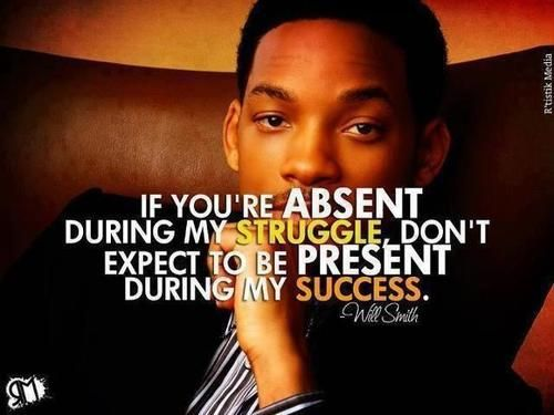 Will Smith's take on the struggles of life. My son mentioned it today in reference to his father's absence. Sad but powerful.