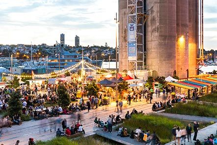 Silo Park Markets, each Saturday in Feb. These markets are so hip with fabulous stalls.