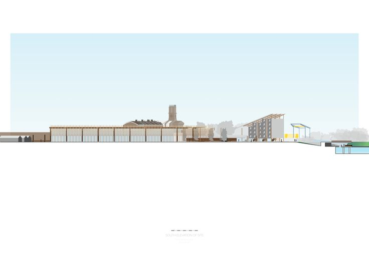 south site elevation urban architecture