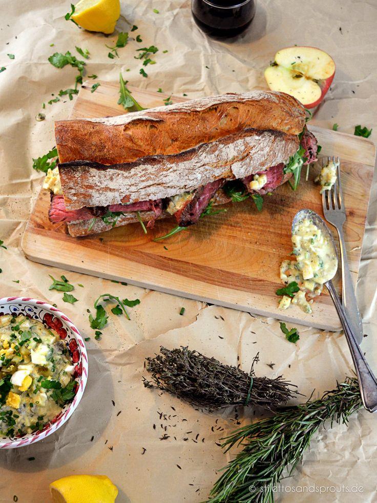 Roastbeef Sandwich mit Remoulade