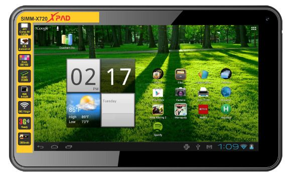 Simmtronics has launched it's new tablet as X-pad x-720