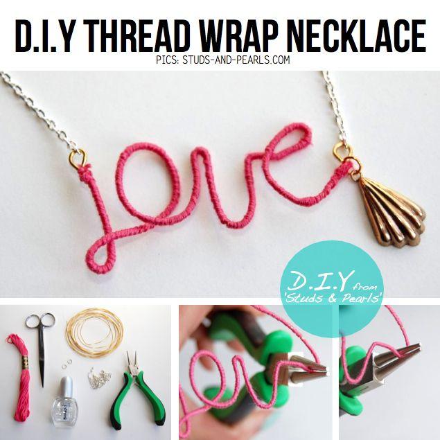 DIY love necklace