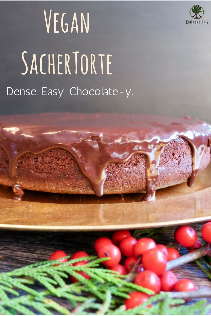 An easy to make Vegan Sachertorte. This might be the most dense chocolate cake you ever will devour at your next special occasion!