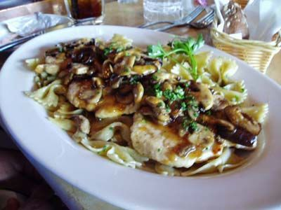 The Cheesecake Factory Chicken Marsala and Mushrooms