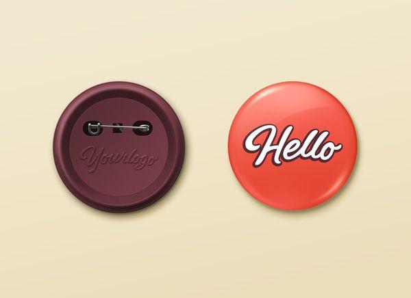 GMF: Free download Pin Button Badge MockUp