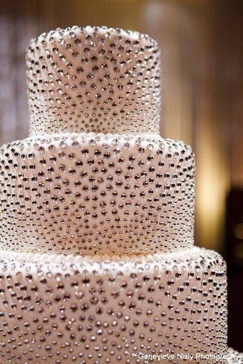 Bejeweled cake. What if this was black instead of white, it would look like stars!