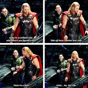 """So due to this incredibly long string of reasons, some friends of mine have adapted Marvel character's names and characters via text message. I got Loki and """"Thor"""" and I have had some very interesting conversations since. :P I'm very good at insulting her."""
