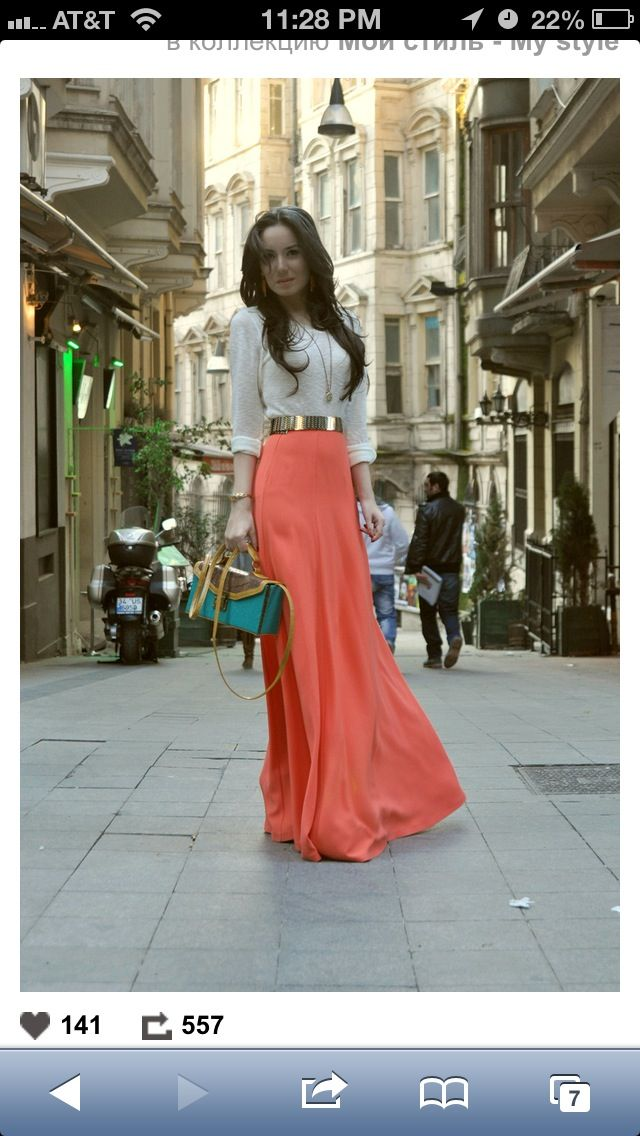 Corral Maxi Skirt. From Pinme.ru | Business Casual/dressy Outfits | Pinterest | Maxis
