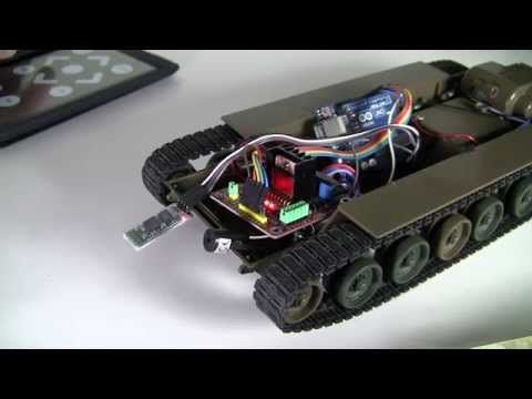 Arduino UNO DIY Project - RC Tokyo Marui Tank to Bluetooth Control with Android App - YouTube