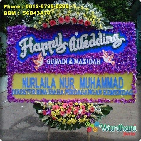 Bunga Papan Happy Wedding HW382WF