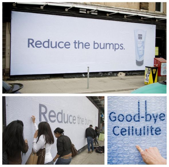 Nivea good-bye cellulite: Bubble-wrap | Ads of the World\u2122