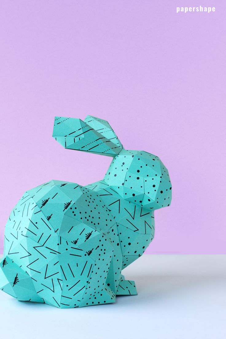 Osterhase basteln aus Papier (kostenlose Vorlage). Das Häschen hat auch eine versteckte Funktion. Man kann darin Ostergeschenke verstecken. PaperShape #osterhase #osterdeko #papercraft #diy