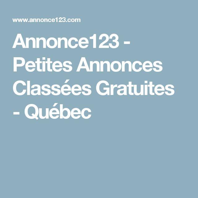 Annonce123 - Petites Annonces Classées Gratuites - Québec