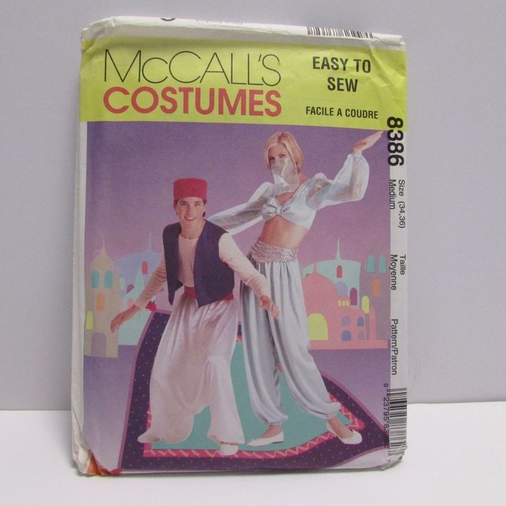 Costume Pattern UNCUT McCall's 8386 Genie Aladdin Gypsy Harem Jasmine Size M  #McCalls