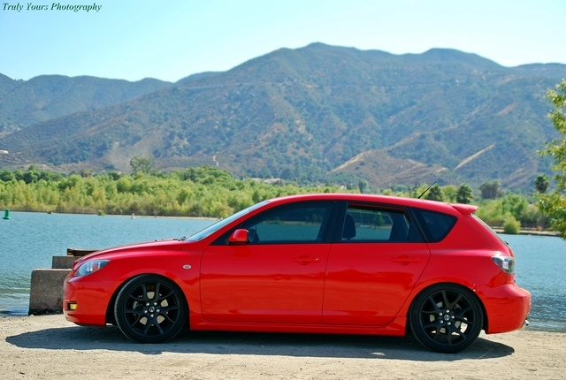 mazda 3 hatch the only car i would lower