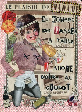 Arts Graphiques | Madame | Le plaisir de Madame au moment de passer à table | Tirage d'art en série limitée sur L'oeil ouvert