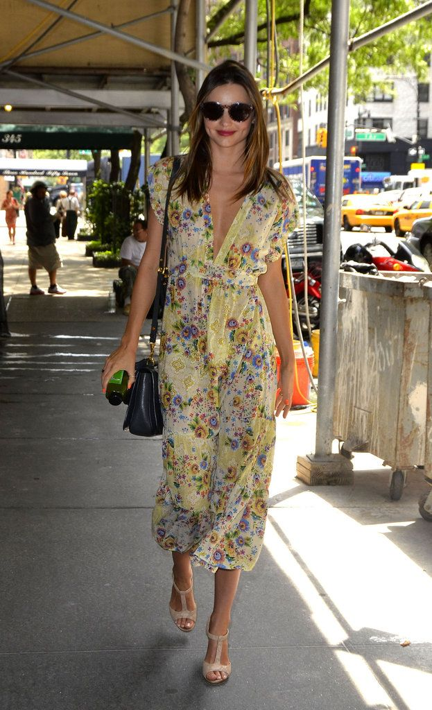 summer dress style - (floaty & floral w/a deep neckline) wish I can get my hands on this!!! So in love.
