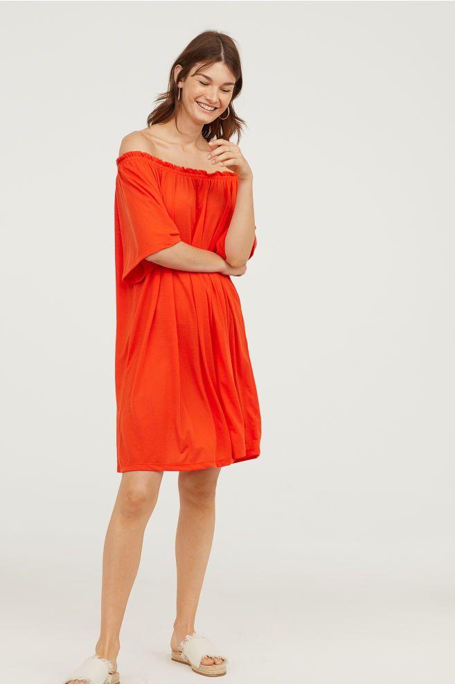 64038d23bc36 Off-the-shoulder Dress | Clemson Outfits | Shoulder, Shoulder dress ...
