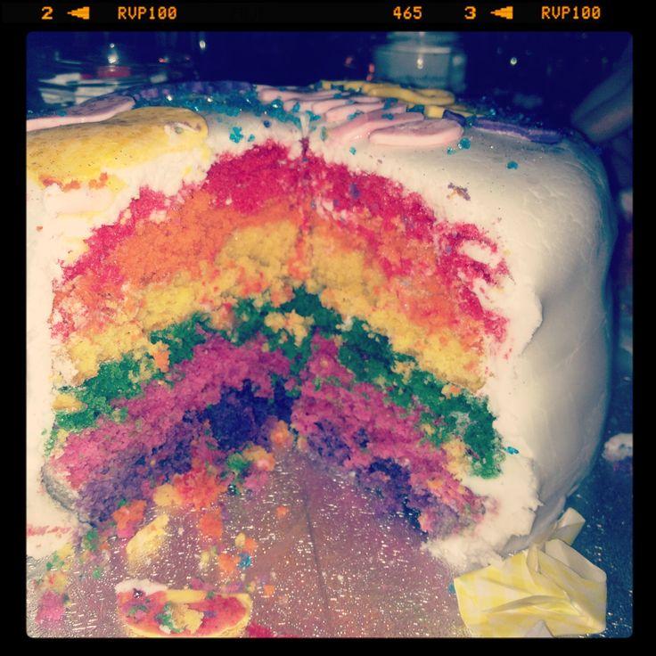 Rainbow cakeeee! A labour of love!