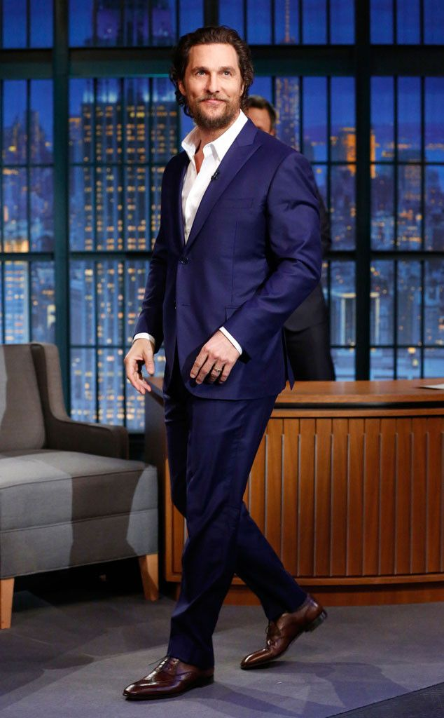 Matthew McConaughey from The Big Picture: Today's Hot Pics  The actor looks sharp during an appearance on Late Night with Seth Meyers in NYC.