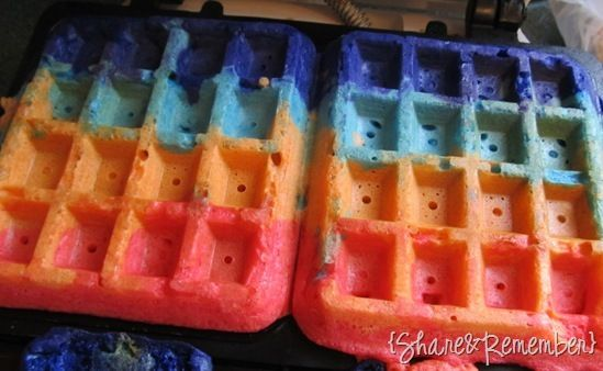 regenboog-wafels