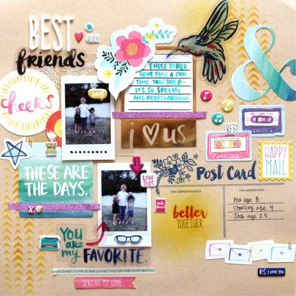 Best friends scrapbook layout!